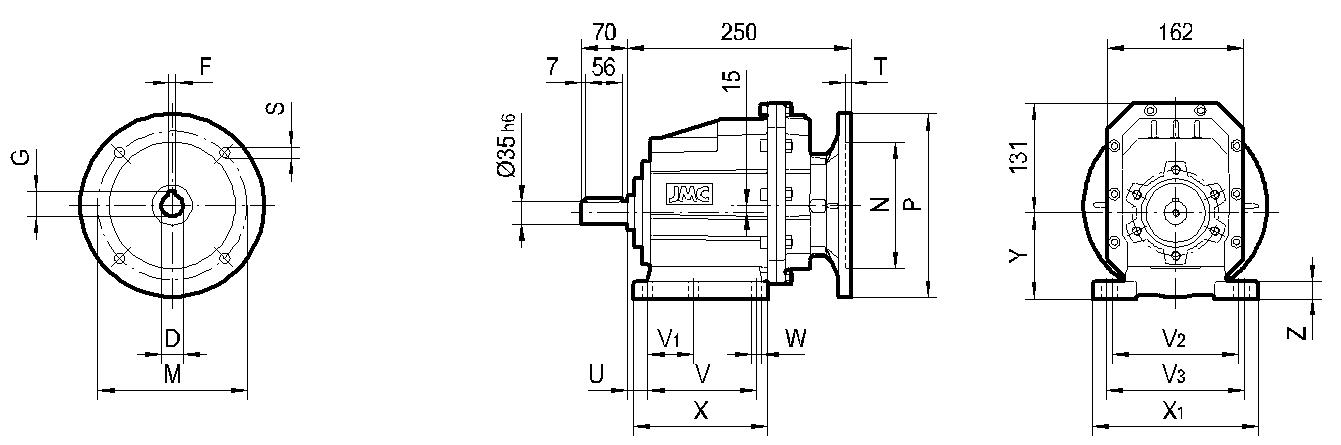 редуктор TRC 04 на лапах